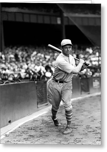 Hall Of Fame Greeting Cards - Jimmie Foxx Batting Follow Through Greeting Card by Retro Images Archive