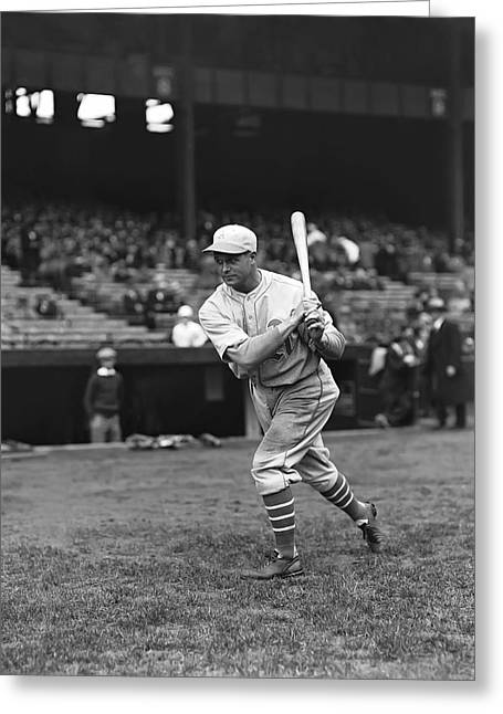 Hall Of Fame Greeting Cards - Jimmie Foxx Batting Practice Warm Up Greeting Card by Retro Images Archive