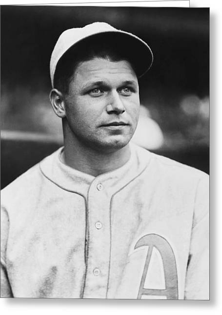 Historical Images Greeting Cards - Jimmie Foxx Close Up Photo Greeting Card by Retro Images Archive