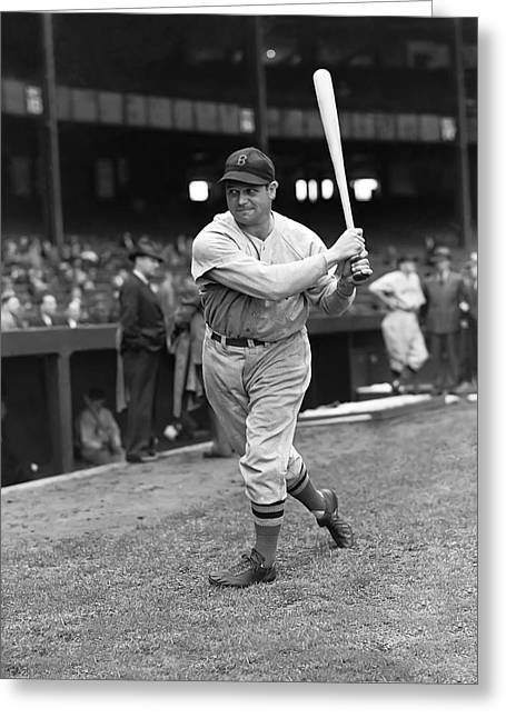 Hall Of Fame Greeting Cards - Jimmie Foxx Red Sox Batting Greeting Card by Retro Images Archive