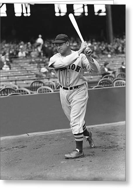 Red Sox Baseball Greeting Cards - Jimmie Foxx Red Sox Greeting Card by Retro Images Archive