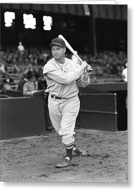 Retro Antique Greeting Cards - Jimmie Foxx Red Sox Swinging Greeting Card by Retro Images Archive