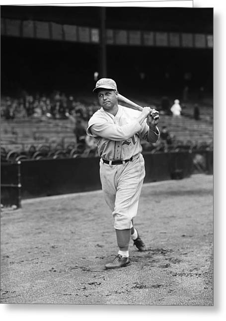 Hall Of Fame Greeting Cards - Jimmie Foxx Swing Greeting Card by Retro Images Archive