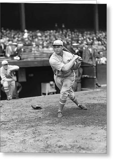 Historical Pictures Greeting Cards - Jimmie Foxx Swinging Greeting Card by Retro Images Archive