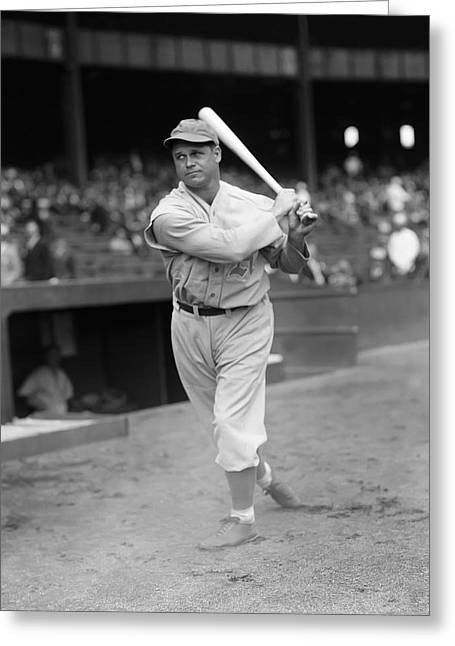 Hall Of Fame Greeting Cards - Jimmie Foxx Swings Through Greeting Card by Retro Images Archive