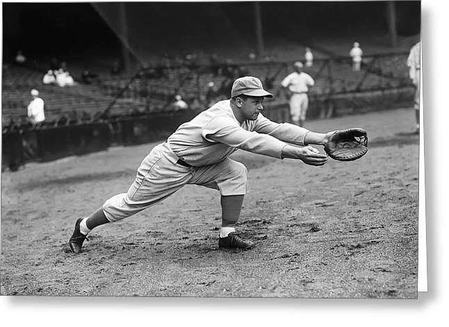 Retro Antique Greeting Cards - Jimmie Foxx Warm Up Fielding Greeting Card by Retro Images Archive