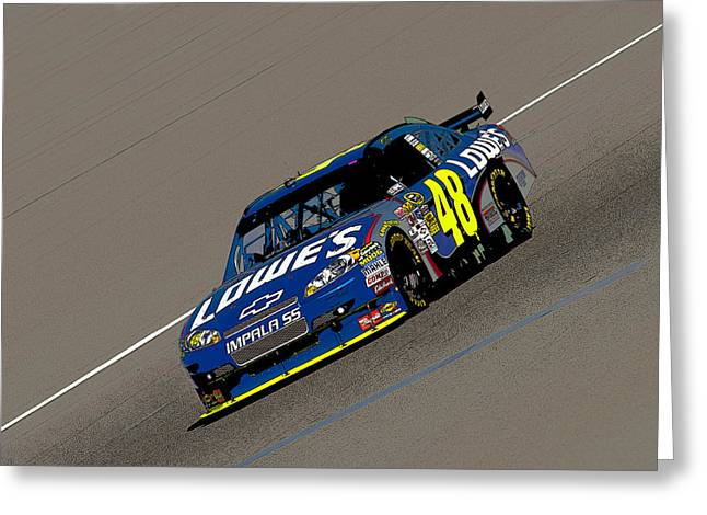 Jimmie Johnson Greeting Cards - Jimmie Johnson 48  Greeting Card by Kevin Cable