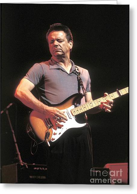 Pop Singer Greeting Cards - Guitarist Jimmie Vaughan Greeting Card by Front Row  Photographs