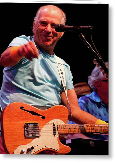 Tim Bischoff Greeting Cards - Jimmy Buffett 5624 Greeting Card by Timothy Bischoff