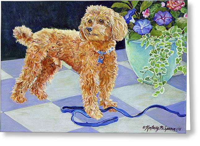 Color Glory Greeting Cards - Jimmy Caruso Greeting Card by Kimberly McSparran