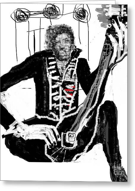 Ruth Clotworthy Greeting Cards - Jimmy Hendrix Greeting Card by Ruth Clotworthy