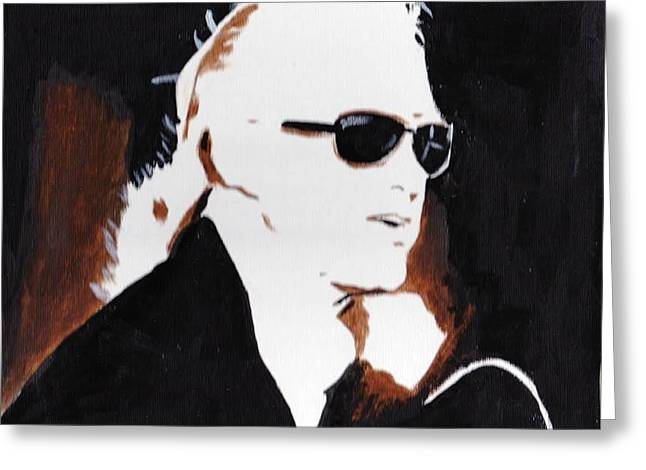 Jimmy Page 2 Greeting Card by Audrey Pollitt