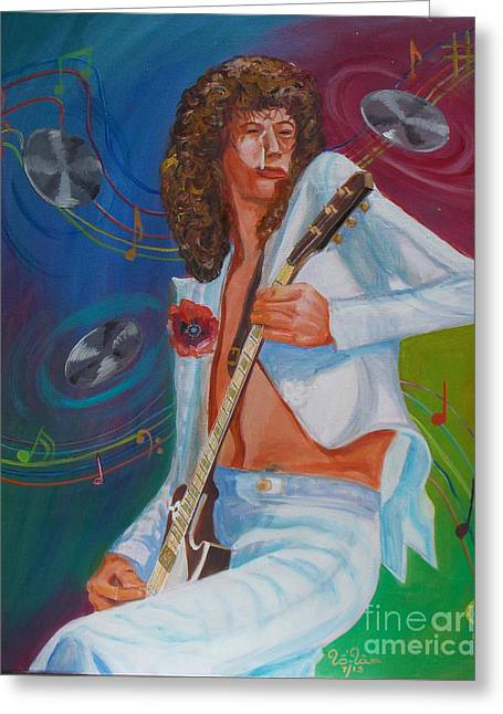 Led Zeppelin Artwork Greeting Cards - Jimmy Page 2 Greeting Card by To-Tam Gerwe