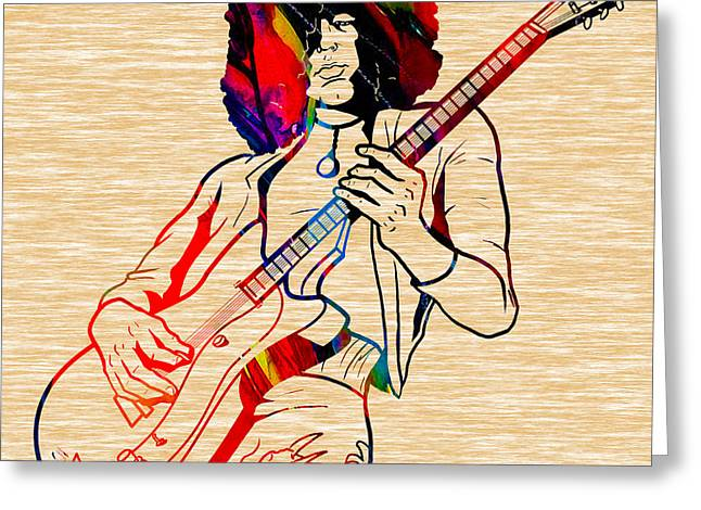 Jimmy Page Collection Greeting Card by Marvin Blaine