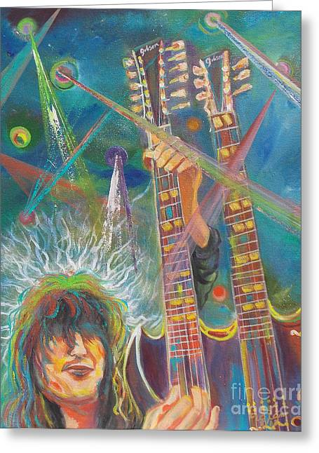 Jimmy Page Greeting Card by To-Tam Gerwe
