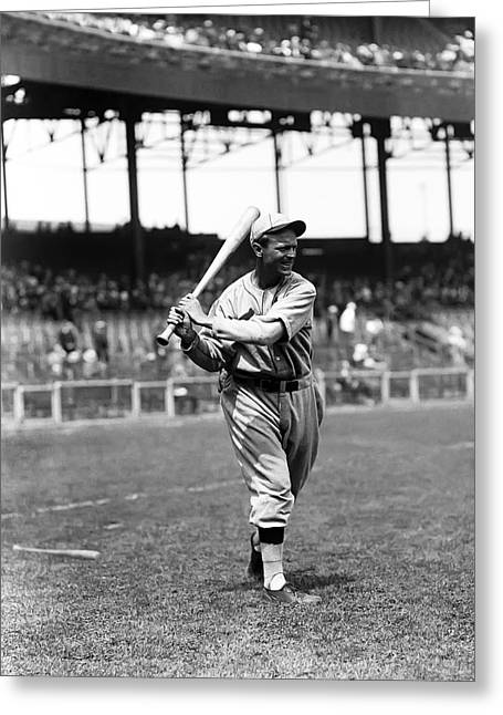 Second Baseman Greeting Cards - Jimmy Reese Greeting Card by Retro Images Archive