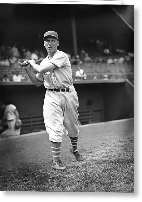 Baseball Bat Greeting Cards - Jimmy Ripple Greeting Card by Retro Images Archive
