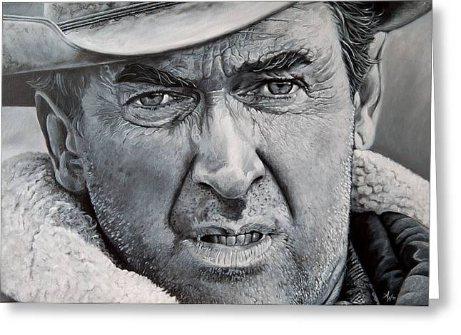 Strict Greeting Cards - Jimmy Stewart Greeting Card by Arie Van der Wijst