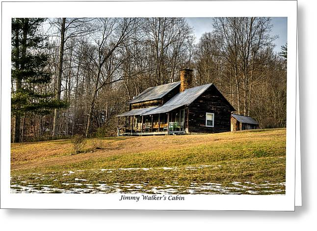 Hunting Cabin Greeting Cards - Jimmy Walkers Cabin Greeting Card by Terry Spencer