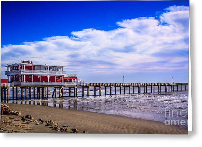 California Ocean Photography Greeting Cards - Jimmys Pier Greeting Card by Perry Webster