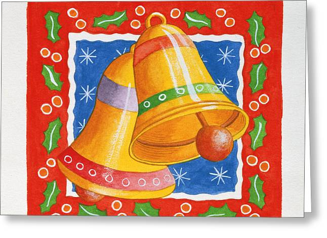 Chimes Greeting Cards - Jingle Bells, 2005 Wc On Paper Greeting Card by Tony Todd