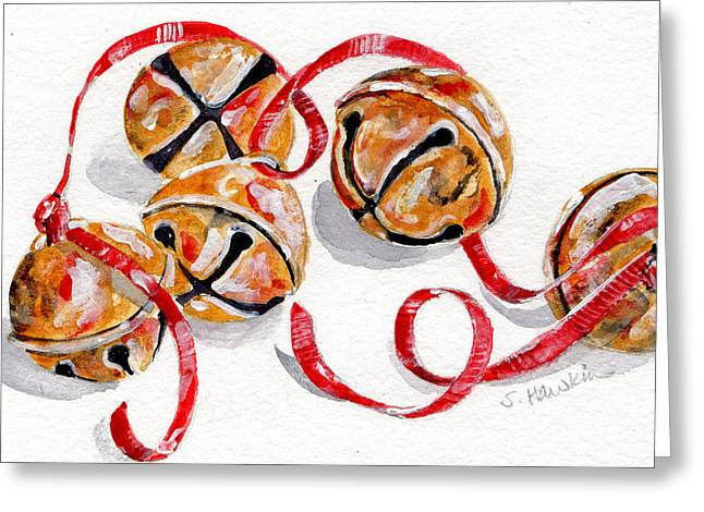 Chrismas Greeting Cards - Jingle Bells Greeting Card by Sheryl Heatherly Hawkins