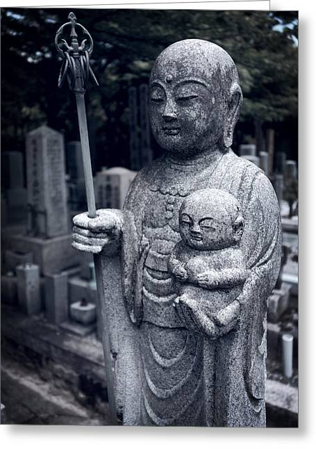 Kyoto Greeting Cards - JIZO BODHISATTVA DEITY of KYOTO  Greeting Card by Daniel Hagerman