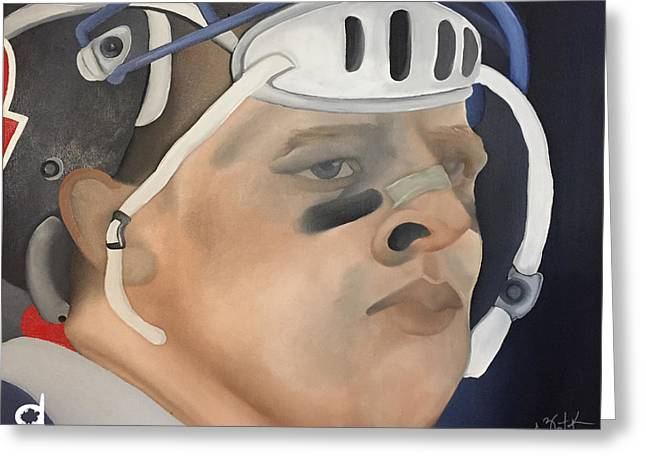 Jj Watt Greeting Card by Chelsea VanHook