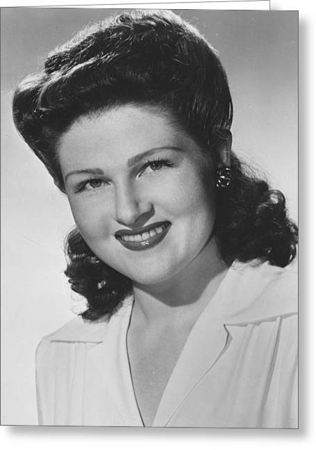 Jo Greeting Cards - Jo Stafford Greeting Card by Silver Screen