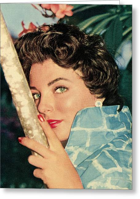 1957 Movies Photographs Greeting Cards - Joan Collins Greeting Card by Douglas Settle