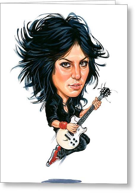Music Greeting Cards - Joan Jett Greeting Card by Art