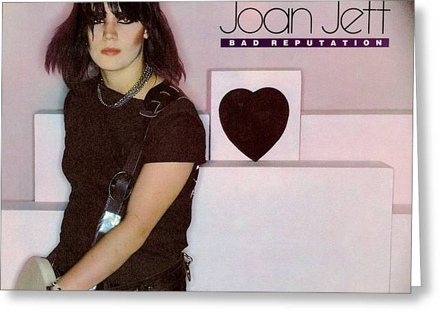 Rock N Roll Photographs Greeting Cards - Joan Jett - Bad Reputation 1981 Greeting Card by Epic Rights