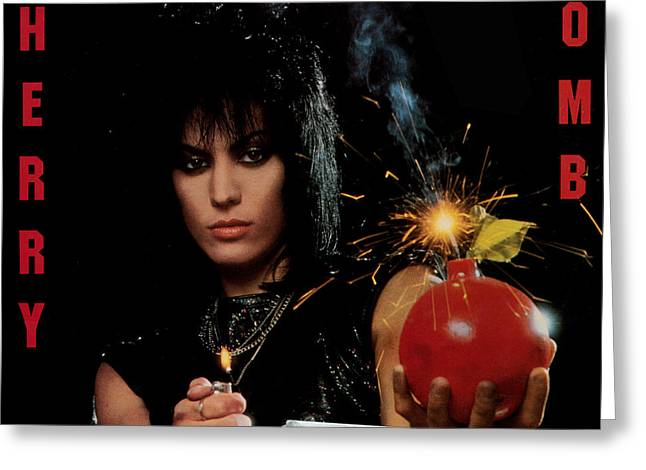 Rock N Roll Photographs Greeting Cards - Joan Jett - Cherry Bomb 1984 Greeting Card by Epic Rights