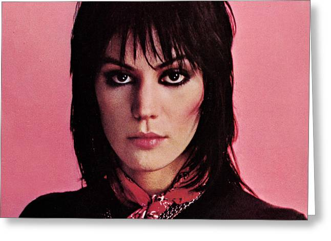 The 80s Greeting Cards - Joan Jett - Crimson and Clover 1982 - Back Cover Greeting Card by Epic Rights