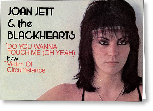 The 80s Greeting Cards - Joan Jett - Do You Wanna Touch Me 1982 Greeting Card by Epic Rights