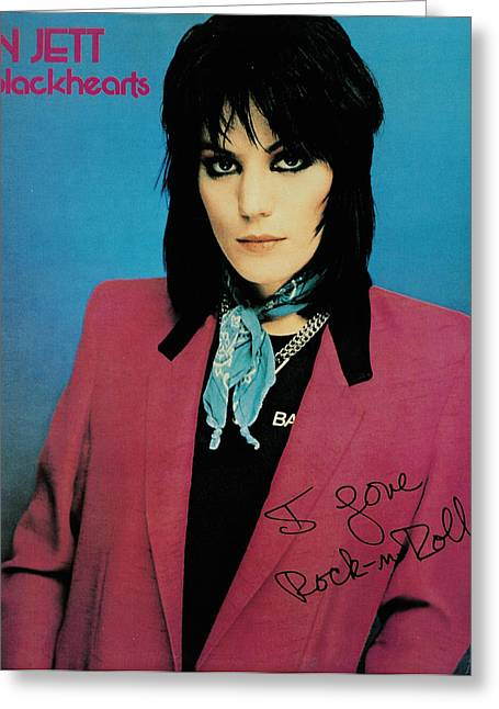 The 80s Greeting Cards - Joan Jett - I Love Rock n Roll 1981 Greeting Card by Epic Rights