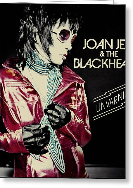 The 80s Greeting Cards - Joan Jett - Unvarnished 2013 Greeting Card by Epic Rights
