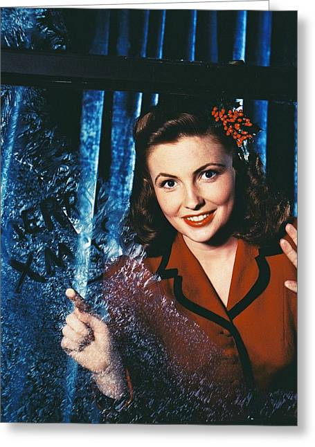 Joan Leslie Greeting Card by Silver Screen