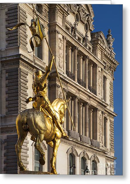Maiden Greeting Cards - Joan of Arc Greeting Card by Brian Jannsen