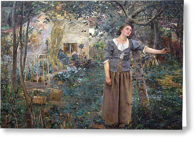 Jules Greeting Cards - Joan of Arc Greeting Card by Jules Bastien-Lepage
