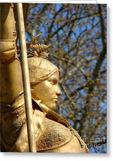 Joan Of Arc Greeting Card by Olivier Le Queinec