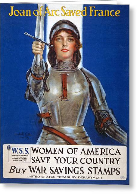 Wwi Greeting Cards - Joan Of Arc Saved France Greeting Card by William Haskell Coffin
