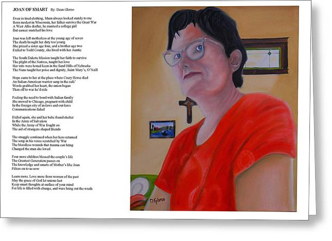 Courage Paintings Greeting Cards - Joan of Smart Greeting Card by Dean Glorso