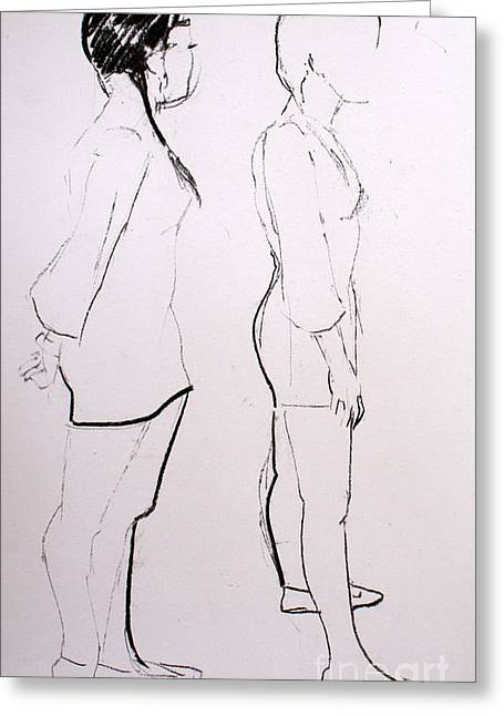 Figure Drawing Greeting Cards - Joanne Greeting Card by Joanne Claxton