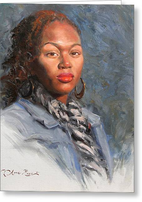 African-americans Greeting Cards - Jocelyn Greeting Card by Anna Bain
