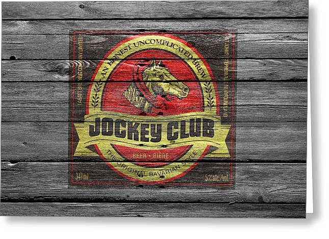 Jockey Greeting Cards - Jockey Club Greeting Card by Joe Hamilton