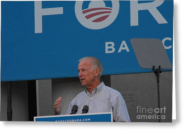 Joe Biden Greeting Card by Lisa Gifford