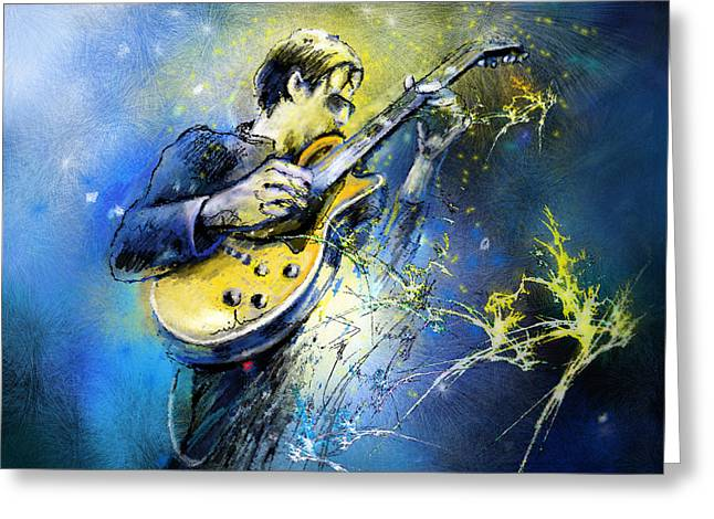 Joe Greeting Cards - Joe Bonamassa 01 Greeting Card by Miki De Goodaboom