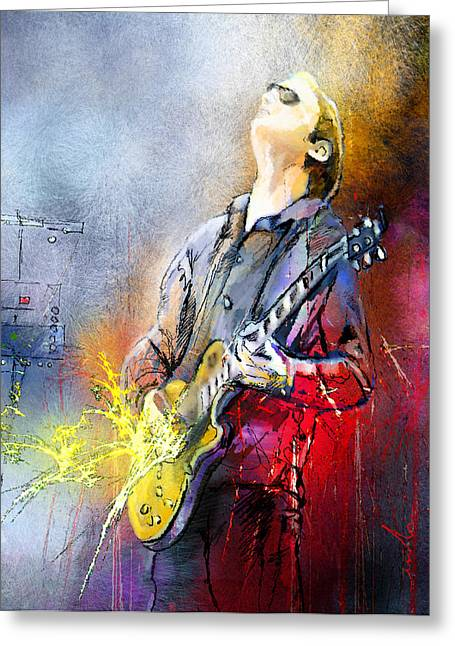 Joe Bonamassa 02 Greeting Card by Miki De Goodaboom