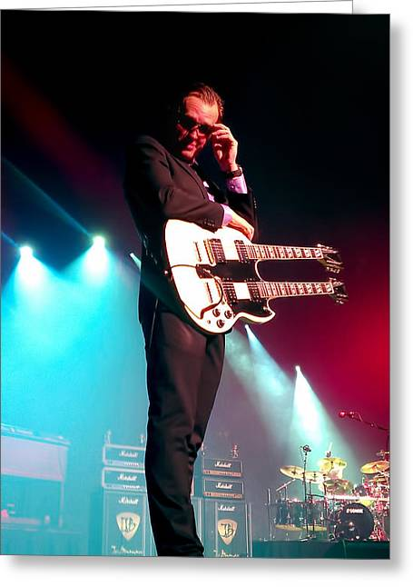 New Stage Greeting Cards - Joe Bonamassa 1 Greeting Card by Peter Chilelli